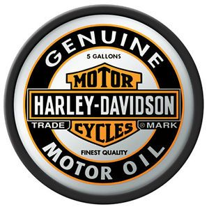 Harley Davidson Motorcycles Hanging Wall Mirror with Genuine Oil Logo New