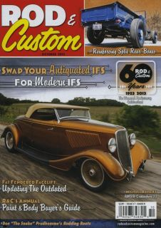 Rod Custom Magazine October 2013 Hot Rod Rat Street Old School Flathead