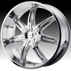 20 inch KMC Surge Chrome Wheels Rims 5x5 5x127 2007 Jeep Wrangler Lifted