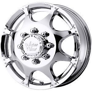 2 New Front Dually 16x6 8x165 1 Vision Crazy Eight Chrome Wheels Rims
