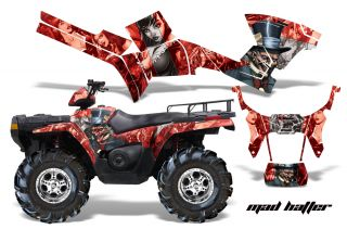 AMR Racing Graphic Kit Polaris Sportsman 800 500 Decal Sticker Parts 05 10 Mad R