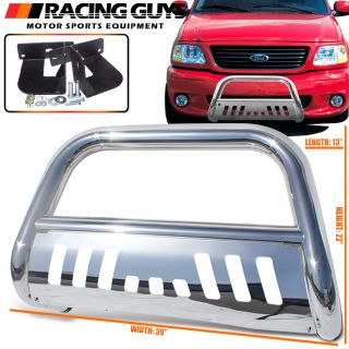 Chrome Bull Bar Guard Push 99 04 Ford F150 F250 Lightduty Crew Cab Pickup Truck