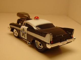 Mm Wild Blown '57 Plymouth Fury Police Patrol Car Rubber Tires 1 64th Scale