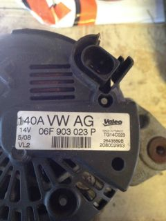 2007 VW Golf R32 Bub MK5 Audi Seat Skoda Alternator 06F903023P 140A Breaking