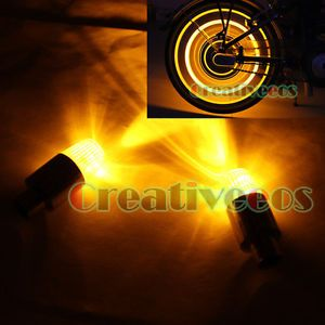 4X Car Bike Motorcycle Wheel Tyre Tire Valve Caps Covers Neon LED Lights Bulb