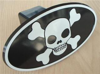"2"" inch Receiver Skull Crossbones Pirate Hitch Cover Plug Trailer Car Truck New"