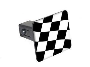 "Checkered Flag Racing 1 25"" Tow Trailer Hitch Cover Plug Insert"
