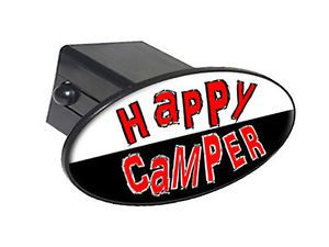 "Happy camper 2"" Tow Trailer Hitch Cover Plug Insert"