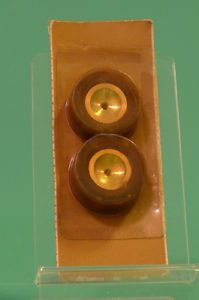 Vintage Cox Slot Car Racing Wheel Tire Set 1 Pair New Old Stock 3272