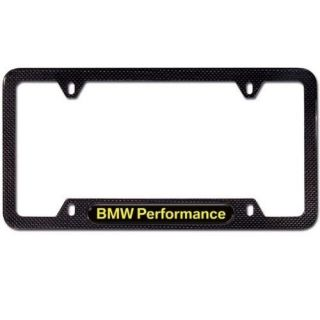 BMW Performance Carbon Fiber License Plate Frame Made with Real Carbon Fiber