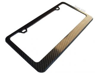 VW Golf GTI Beetle Jetta Real Carbon Fiber License Plate Frame 3M Twill 96 00 11