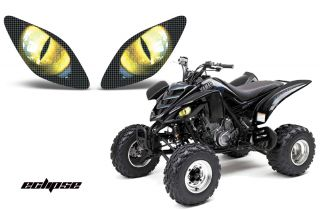 AMR Racing Head Light Graphic Decal Cover Yamaha Raptor 660 ATV Parts Eclipse