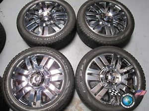 "08 11 Ford Edge Factory 20"" Chrome Clad Wheels Tires Rims 3701 Pirelli"