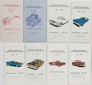 Mopar Dodge Plymouth Part Casting Code Numbers All 8 Books Galen Govier