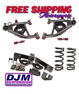 "1988 1998 C1500 4"" 6"" lowering Drop Kit Control Arms Coils Flip Kit DJM2555 4 6"