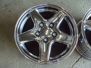 "1993 2002 Chevy Camaro Chrome Wheels Z28 RS 16"" 5 Spoke 1998 1999 Style"