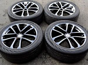 "18"" Nissan Altima Maxima Black Chrome Wheels Rims Tires 2009 2013 62521"