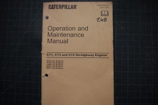 Cat Caterpillar C11 C13 C15 Truck Engine Operator Operation Maintenance Manual
