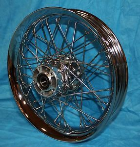 "Harley Davidson New 16"" Chrome Front Profile Wheel 44605 05"
