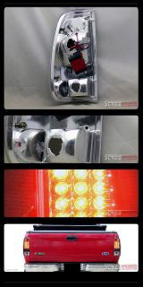 Black LED Tail Lights Brake Lamps 1997 2003 Ford F150 1999 2007 F250 Styleside