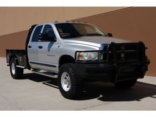 2003 Dodge RAM 2500 SLT 4x4 6 Speed 5 9L Cummins Diesel Flatbed Fully Serviced