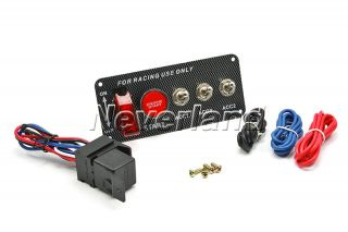 Racing Car 12V Ignition Switch Panel Engine Start Push Button LED Toggle Kit
