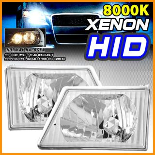 HID 8000K 92 02 Ford Econoline Van E150 E250 E350 E450 Crystal Headlight