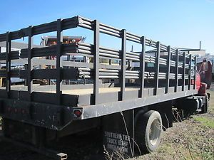 Stake Rack Bed 18' Long Flat Bed Chevy Ford Dodge Truck C5500 F650