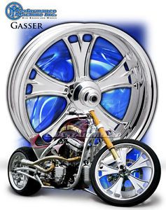 PM Performance Machine Gasser Chrome Motorcycle Wheels Harley