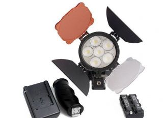 New 5500K LED Video Light DV Camera Camcorder Battery