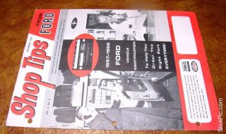 1965 Ford Mustang Comet Convertible Falcon Fairlane 500 Shop Manual Parts CD