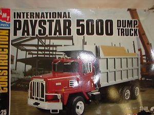 AMT Ertel 1 25 International Paystar 5000 Dump Truck Model Kit Parts SEALED