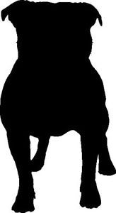 Staffordshire Bull Terrier Silhouette Car Decal Sticker