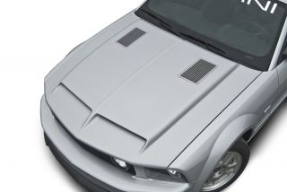Cervinis Mustang Type IV RAM Air Hood w Billet 05 09