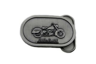 Wyatt Gatling Duo Glide Oval Belt Buckle for The Harley Davidson Rider