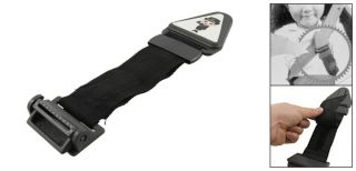Children Adjustable Safety Black Nylon Seat Belt Buckle