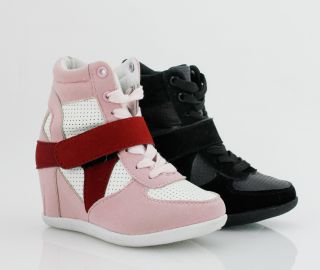 New Kids Girls Wedge Sneaker High Top Fashion Youth Casual Shoes