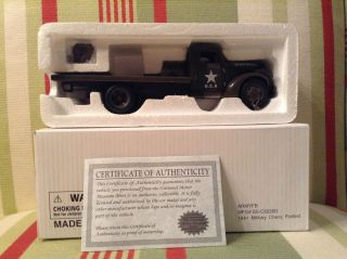 National Motor Museum Mint 1941 Military Chevy Flat Bed Truck 1 32 Diecast Car