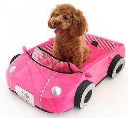 Very RARE Cute Car Shaped Bed for Pet Pink House Toy Dog Cat Made in Japan