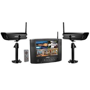 "Uniden UDW20055 Wireless Color Video Security System 7"" Monitor 2 Cameras"