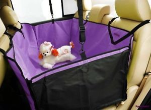 Car Auto Pet Dog Cat Purple 3D Waterproof Hammock Seat Cover Protector Blanket
