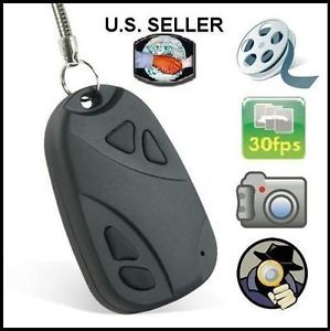 Mini Car Keychain Remote Control Shaped Spy Digital Video Audio Camera Recorder