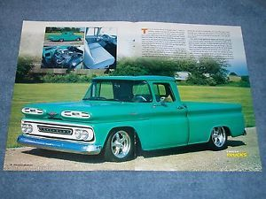 "1961 Chevy Short Bed Fleetside Pickup Truck Article ""Restorod'"