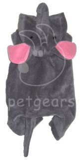 Pet Dog Cat Elephant Halloween Costume Gray Small Apparel Size 10 12 14 18