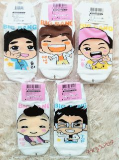 Big Bang Socks Seungki GD Top Taeyang Daesung KPOP Korean Character Cute Jpop