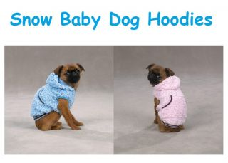 Pink Dog Pet Puppy Snowbaby Hoodies Winter Coat Hooded Jacket Sweatshirt Sweater