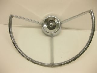 1960s 1962 63 61 64 Ford Fairlane 500 Falcon Steering Wheel Horn Ring Unrestored