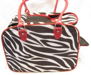 Pet Carrier Small Animal Tote Bag Cat Dog Travel Case New Zebra Pink