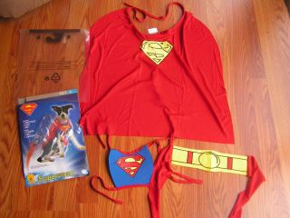 New with Tag Superman Pet Costume Halloween Dog Costume Size s Rubies Cape Belt