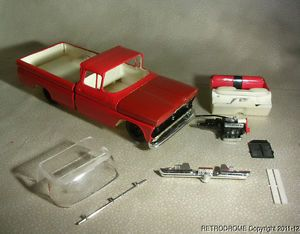Vintage AMT 1960 Chevrolet Chevy Pickup Truck Model Parts Lot